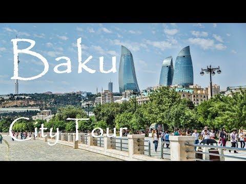 Baku - Small City Tour - Baki Şəhərlərin Kicik tur Gəzintisi - Azerbaijan - Part 1