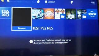 RetroArch (PS2 Port) running on PS4