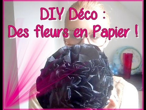 Diy d coration des fleurs en papier youtube for Decoration en papier