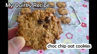 Fast & Easy Chocolate Chip Oat Cookies (巧克力豆燕麥餅乾)