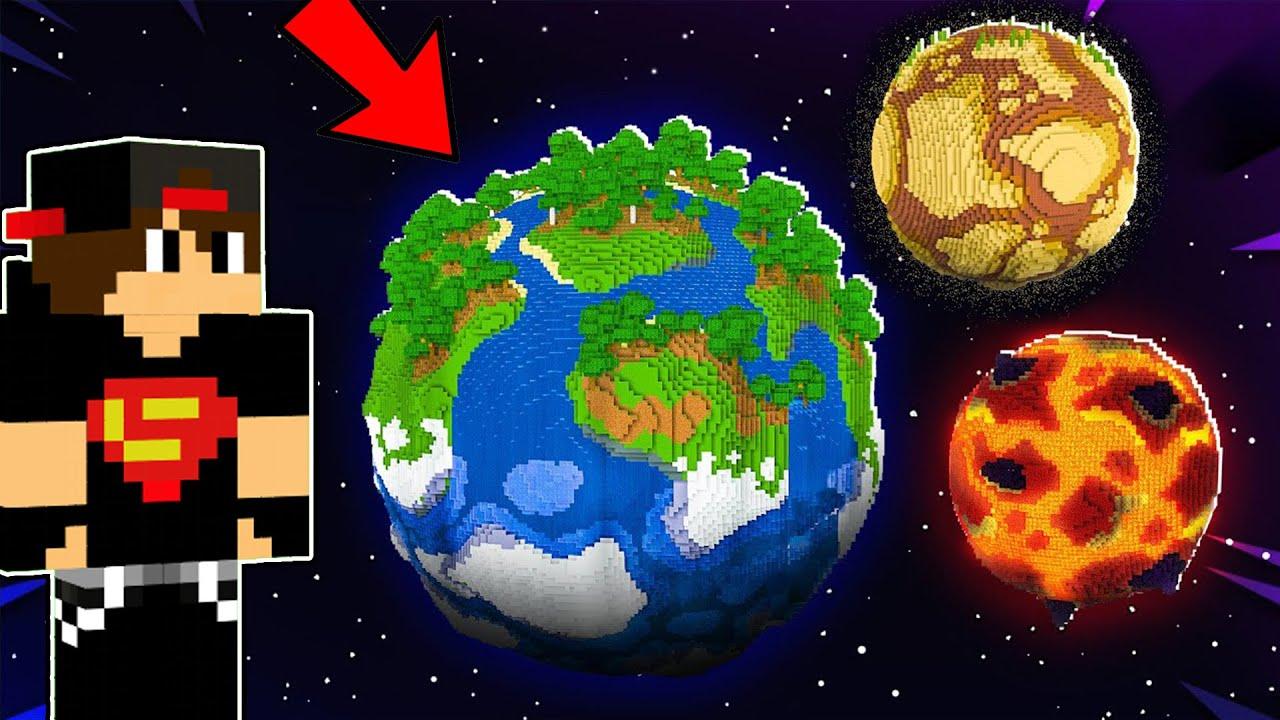 ماين كرافت : تحول العالم الى الكرة الارضية | Minecraft !! ??