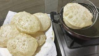How to make Phulko Luchi Bengali Deep Fried Bread - In Bengali Recipe