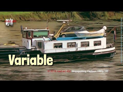 Uit mijn favoriete prentenboek | Inland Motor Freighter VARIABLE 02311936 | Shipspotting Cartoon