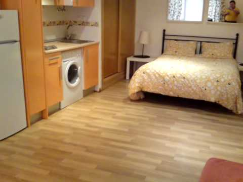720 eur lovely modern furnished 30m2 studio for short or long term lets tetuan youtube. Black Bedroom Furniture Sets. Home Design Ideas