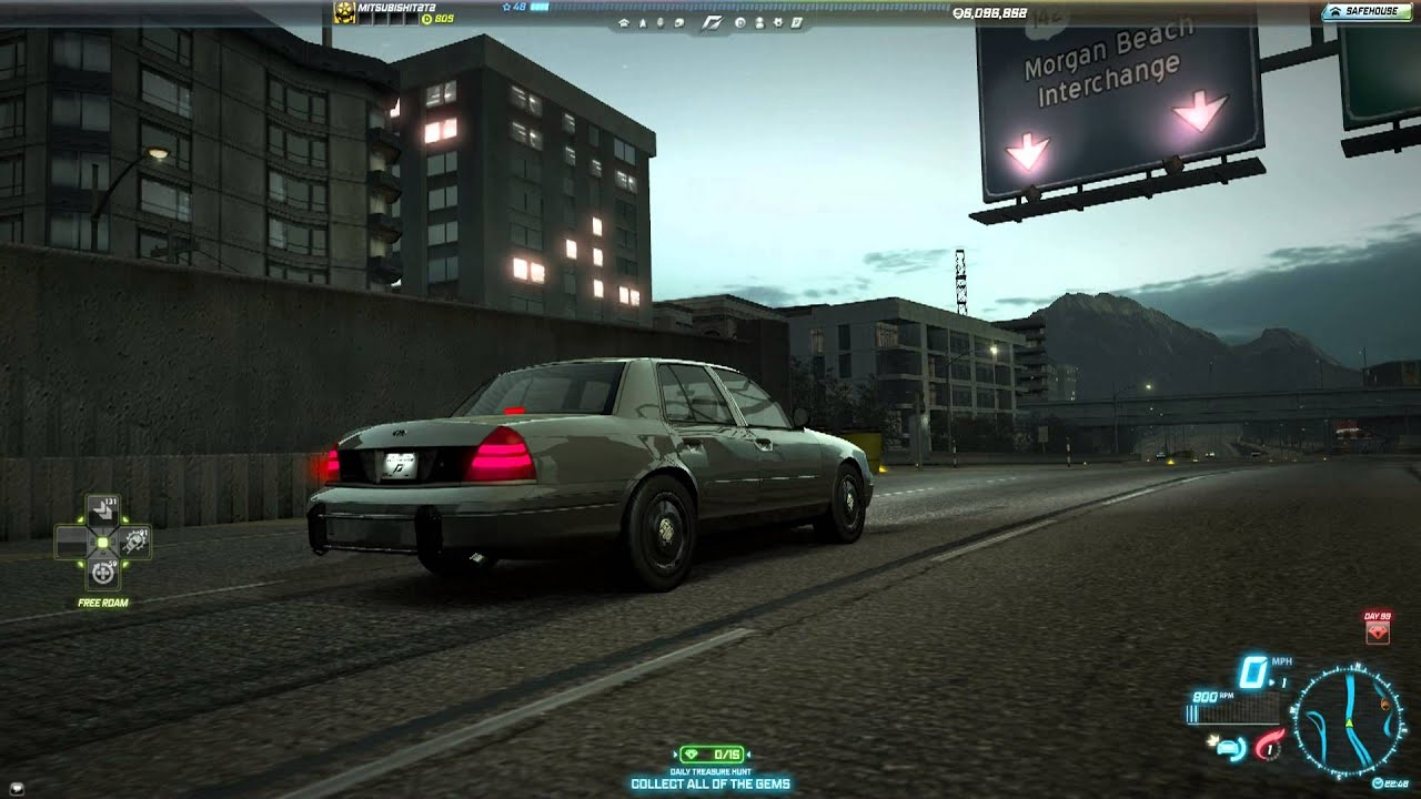 Need for speed world ford crown victoria police interceptor 23 july 2013 youtube