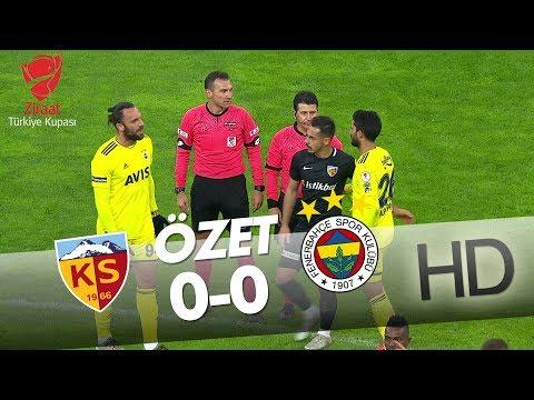 Hes Kablo Kayserispor - Fenerbahçe Ziraat Türkiye Kupası Maçının Özeti