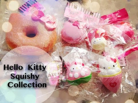 Squishy Collection Hello Kitty : Hello Kitty Squishy Collection - YouTube