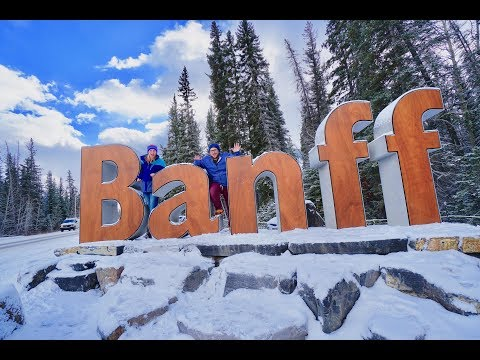Banff in the Winter... Frozen Lakes, Waterfalls & COLD!