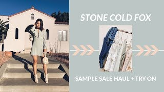 STONE COLD FOX   2017 Sample Sale Unboxing + Try On Haul (Christy, Kerr, Sicily Dress)   JULIA SUH
