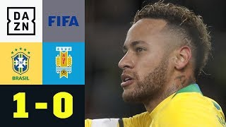 Neymar entscheidet Südamerika-Duell: Brasilien - Uruguay 1:0 | Testspiel | DAZN Highlights