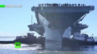 Авианосец USS Gerald R  Ford ВМС США — самый дорогой военный корабль в мире