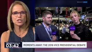 AJ Delgado joins Yahoo live from Longwood University, VP debate