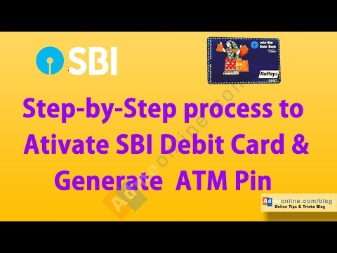 How to activate new SBI Debit Card online and Generate SBI ATM PIN