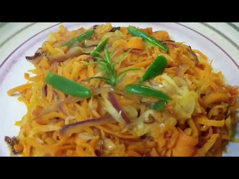 How to make vegetable pasta/የአትክልት ፓስታ አሰራር።