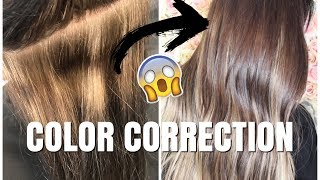 COLOR CORRECTION |  LIFTING OUT LEVEL 3 HAIR COLOR
