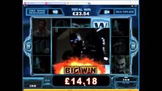 Download Video Dark Knight Slot Free Spins Round Big Win - Microgaming MP3 3GP MP4
