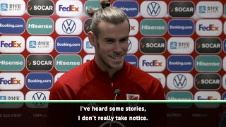 Gareth Bale shows his comedic side as he hilarously addresses his rumours