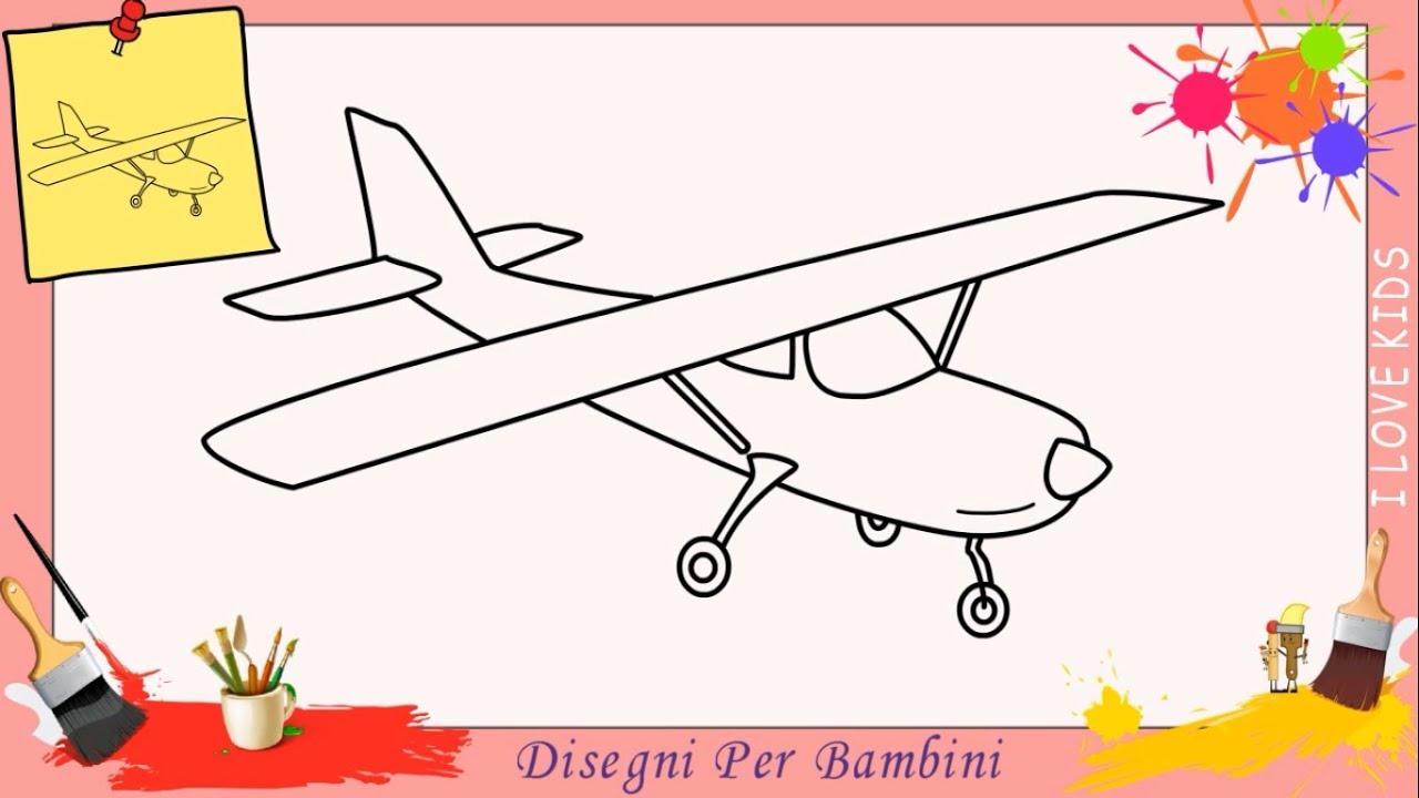 Disegni Di Aerei Facili Per Bambini Come Disegnare Un Aereo Passo