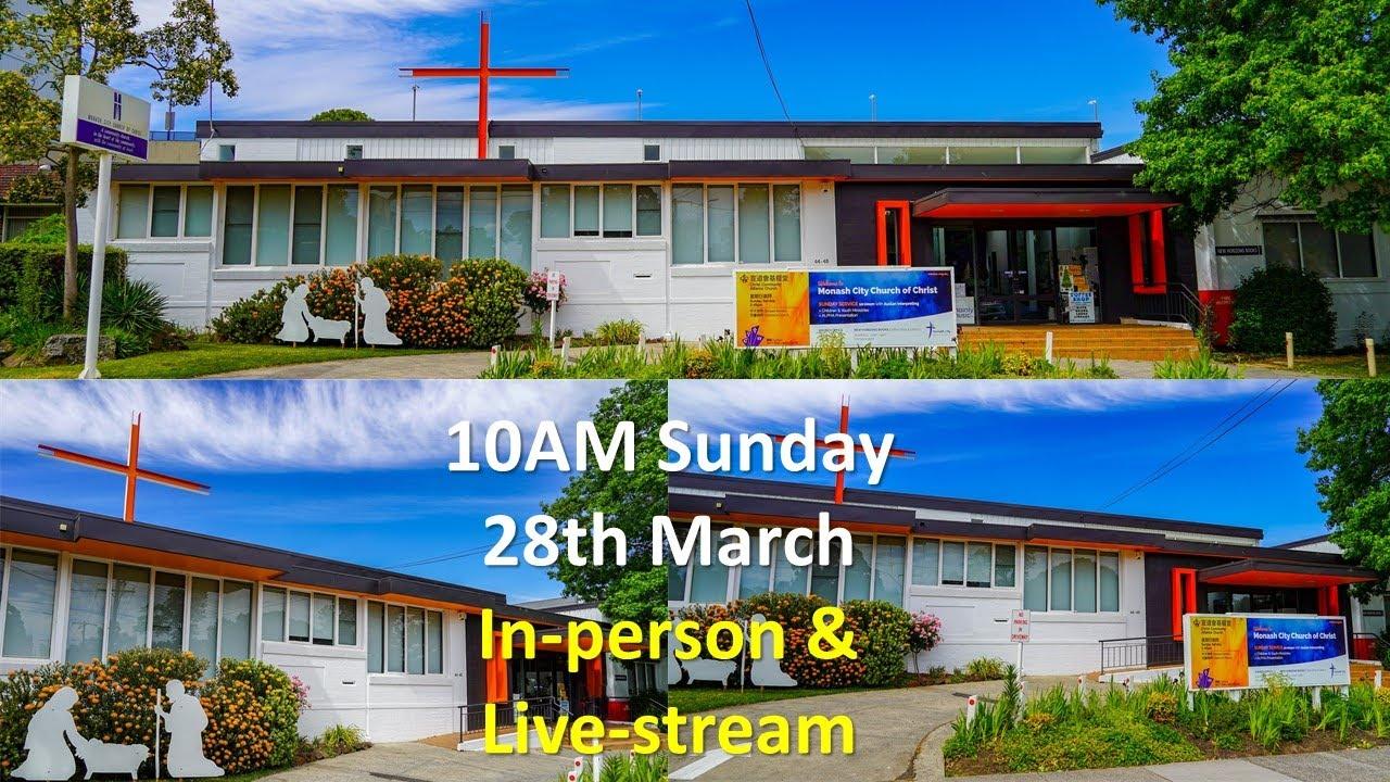Mar 28th in-person & live stream