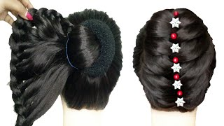 Newest french bun and other 4 selected juda hairstyle for karwa chauth