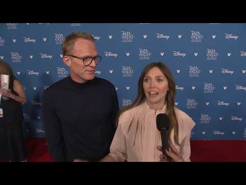 D23 Expo 2019: Disney+ Press Carpet (Marvel Studios, WandaVision - Paul Bettany, Elizabeth Olsen...)