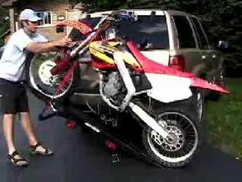 Tilt-A-Rack Aluminum Tilting Motorcycle Carriers - YouTube