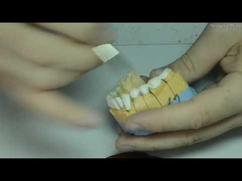 Нанесение керамики на подкову. МК.