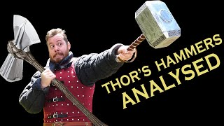 THOR'S HAMMERS Mjolnir and Stormbreaker ANALYSED! | Pop-culture weapons analysed