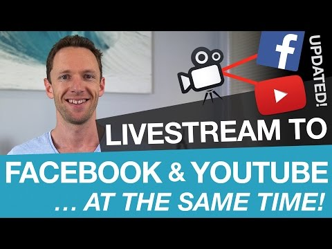 How to Livestream on Facebook and YouTube AT THE SAME TIME!