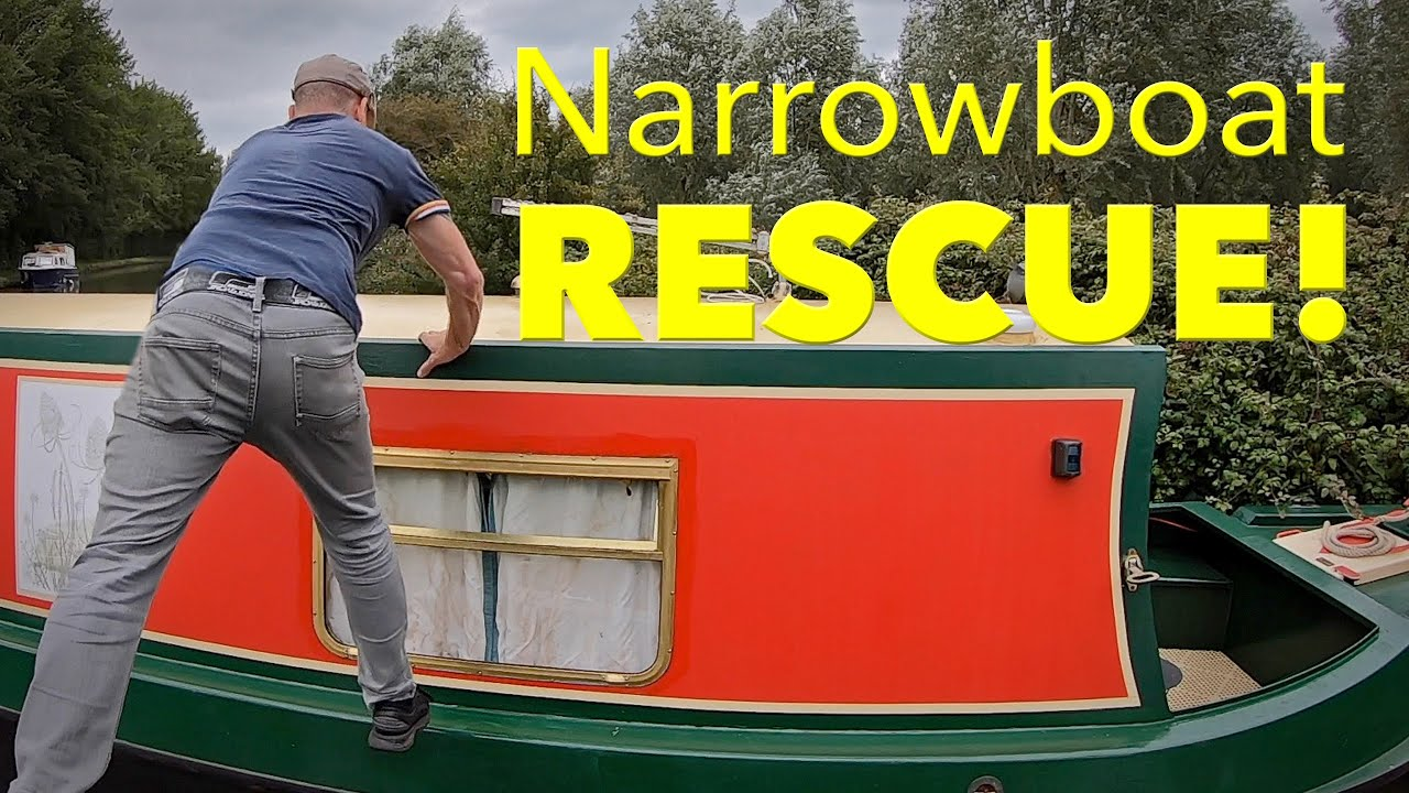 Narrowboat Rescue on the Grand Union Canal.
