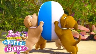 Puppy Chase Bloopers! | Barbie & Her Sisters in a Puppy Chase | Barbie