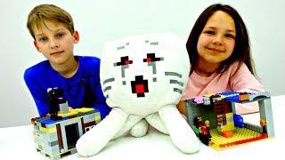 МАЙНКРАФТ: Строим Штаб-Квартиру для СТИВА с #ЛучшаяПодружка Настя 🏠 #ЛЕГО Игры и Видео для Детей