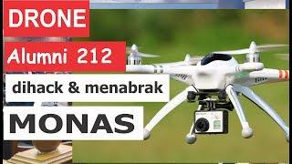 """Detik-detik DRONE Alumni 212 """"dihack"""" dan tabrak MONAS"""