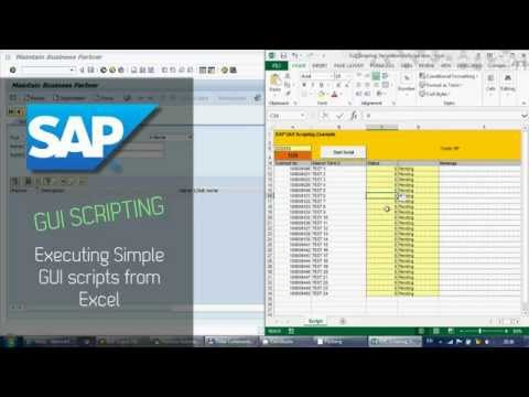 SAP GUI Scripting 1 - Running scripts from Excel - YouTube