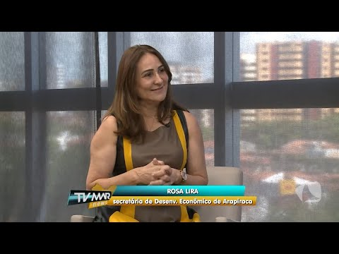 Entrevista da Sec. de Desenvolvimento Econômico Rosa Lira para TV MAR