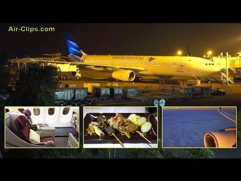 Garuda Indonesia Airbus A330 Five Star Business Class Jakarta-Sydney  [AirClips full flight series]