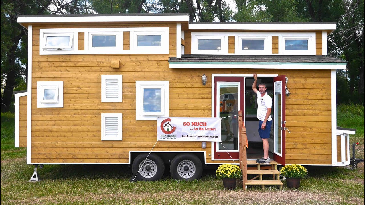 Tiny LUXURY House All OffGrid Tiny House Chattanooga YouTube - Couple takes tiny house big adventure