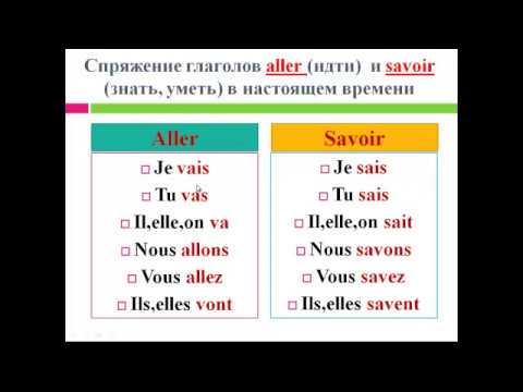 Французский язык. Уроки французского #19: Глаголы \