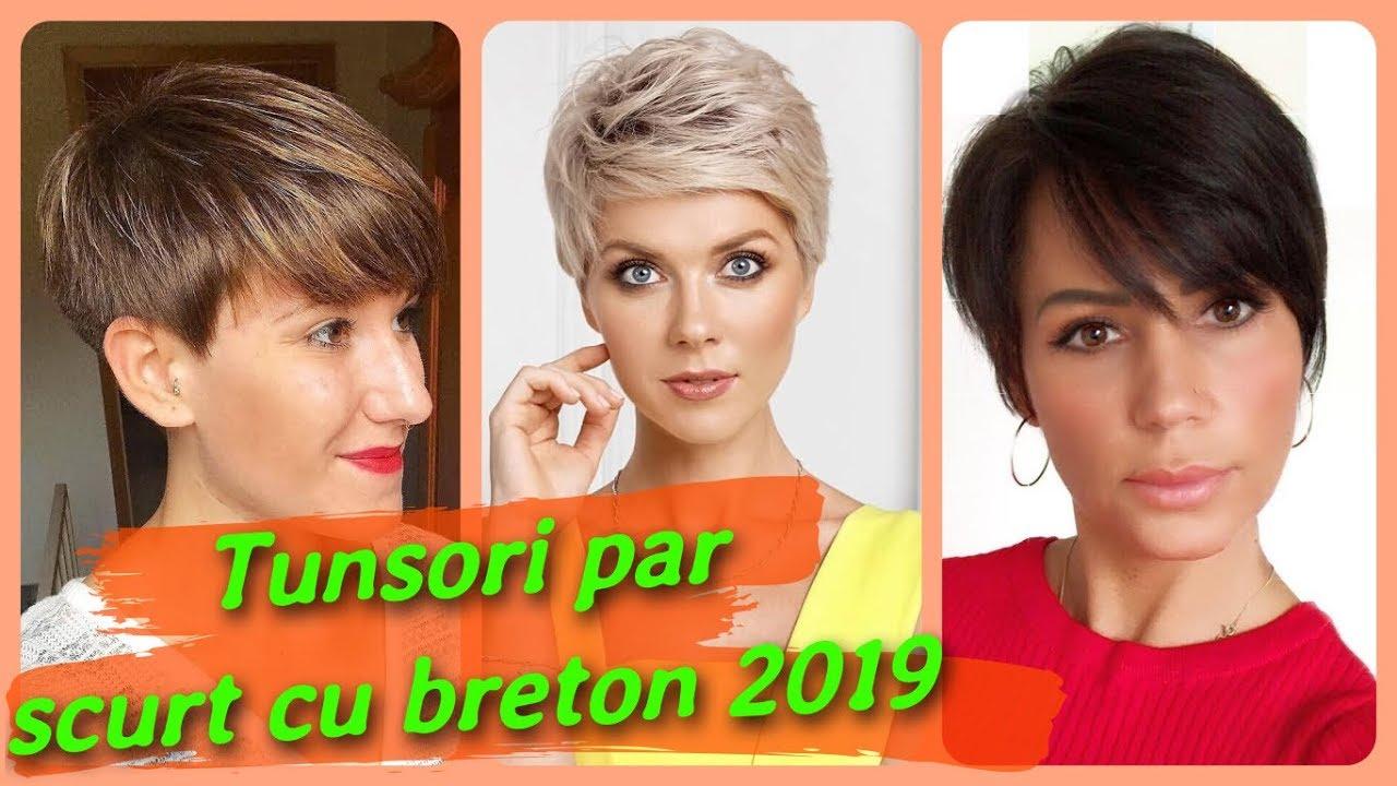 20 De Idei De Tunsori Par Scurt Cu Breton 2019 Youtube