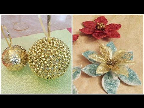 Como hacer adornos navideños  | diy Christmas ornaments