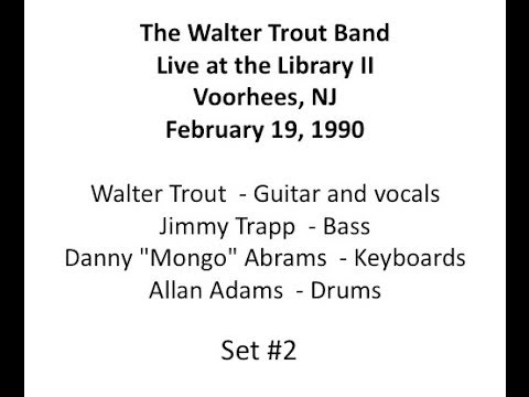 Walter Trout Band Live at the Library II February 19, 1990 Set #2