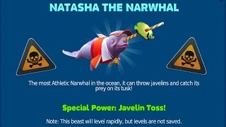 Hungry Shark Evolution - Нарвал Наташа - Natasha the Narwhal - СЕКРЕТНОЕ БИО-ОРУЖИЕ