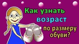 видео Размер ноги ребенка по возрасту