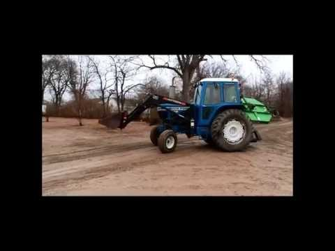 tractor ford 6610 - pulling, power, attachments, clear grass, prepare the ground