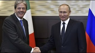 LIVE  Putin & Italian PM Gentiloni hold press conference in Sochi