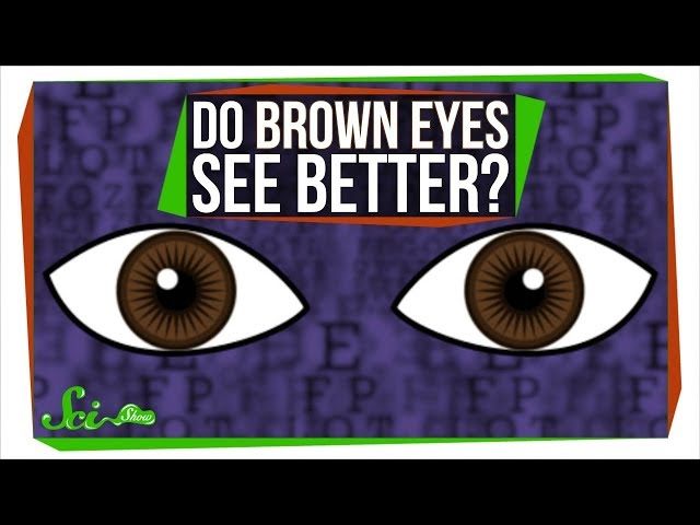 Do Brown Eyes See Better?