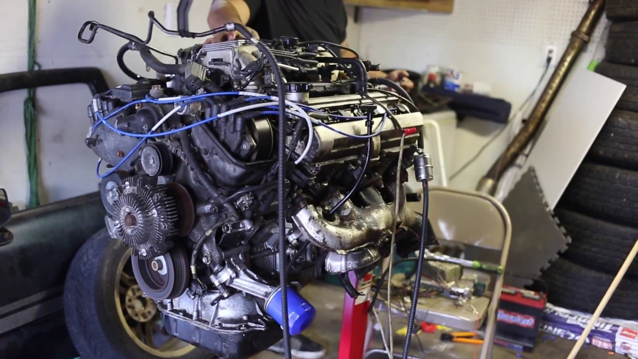 maxresdefault how to wire and start a 1uzfe on an engine stand youtube