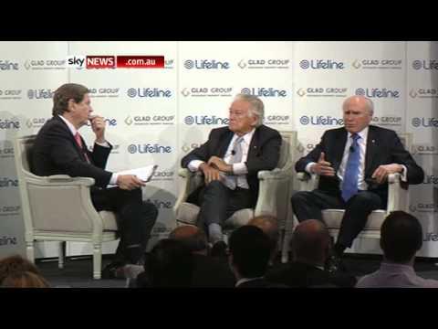 Former PM's Bob Hawke and John Howard
