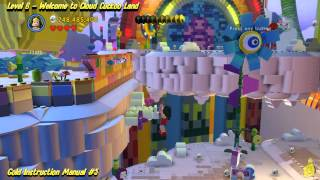 The Lego Movie Videogame: Level 6 Cloud Cuckoo Land - FREE PLAY - (Pants & Gold Manuals) - HTG
