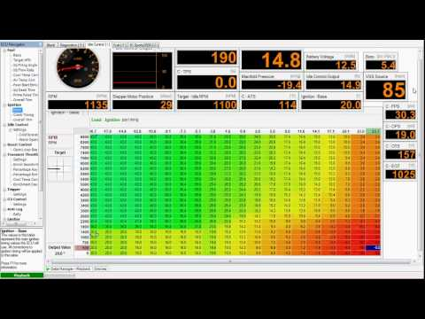 Haltech PS2000 freeway run with good ka24det ignition timing map 16 2 psi  max 06/13/2012
